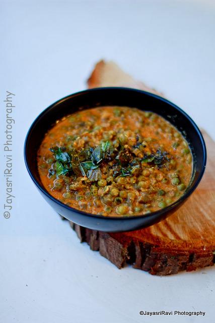 Cucumber-peas Gravy