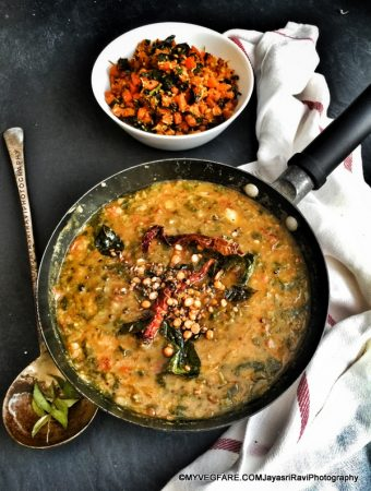 Methi (Fenugreek) and Dill leaves Pappu(Dal) Andhra Cuisine