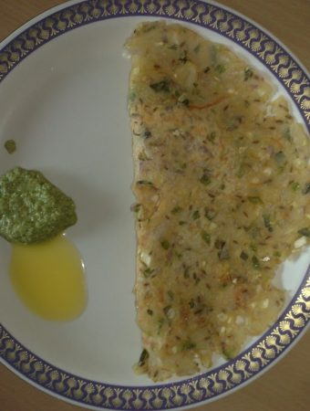Akki Rotti & Raagi Rotti (Rice flour or Ragi flour Rotis)
