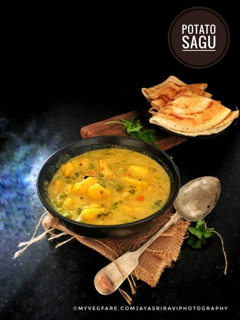 Potato Saagu / Aloo Saag