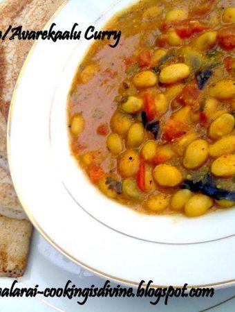 Lima Beans Gravy/Avarekaalu subzi