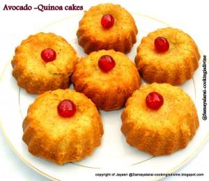 Eggless Avocado-Quinoa cakes
