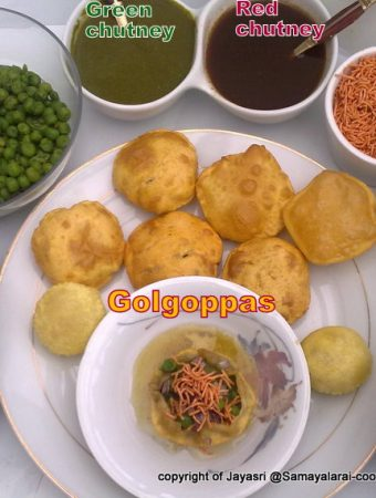 Golgoppas for the Indian Cooking challenge – May 2010