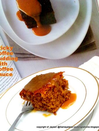Egg and Eggless Sticky Toffee Pudding with Toffee Sauce