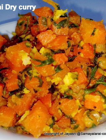 Carrot & Fenugreek leaves (Methi) Stir fry with Andhra style Dhaniyalu Podi (Coriander Powder)