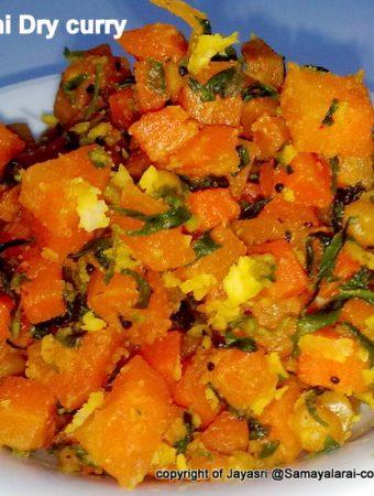 Carrot & Fenugreek leaves (Methi) Stir fry with Andhra style Dhaniyalu Podi (Coriander Powder)