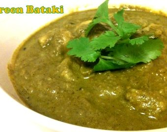 Green Bataki (Mustard Green leaves and Potato Gravy)