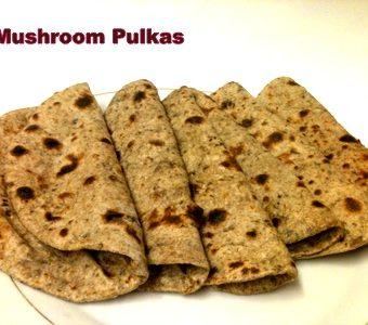 Mushroom Chapatis (Pulkas)