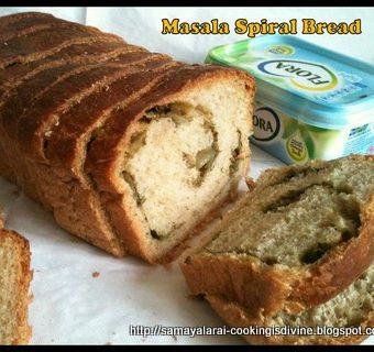 Iyengar Bakery Masala Bun turned into Masala Spiral Bread