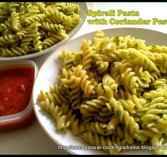 Spirali Pasta with Coriander Pesto