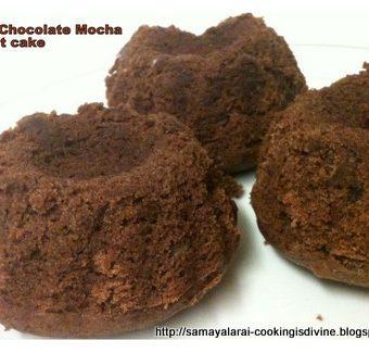 Mini-choco Bundt cake with Nutella Ganache (Eggless)
