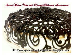 Baking Quark Mousse cake with Roasted Balsamic Strawberries from PAB