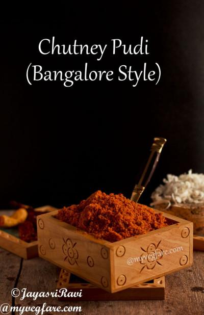 Chutney Pudi - Bangalore style - My Veg Fare