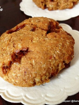 Eggless Scotchilla Cookies – Made with Oats. Whole meal flour and Flaxseed