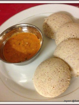 Moong Dal Idlis (Yellow split Dal & Red Rice steamed Dumplings )