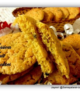 Eggless Passion Fruit Cookies