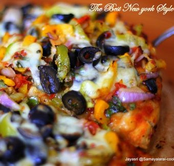 Thin Crust Best New York Style Pizza with Veg and Best Pizza Sauce