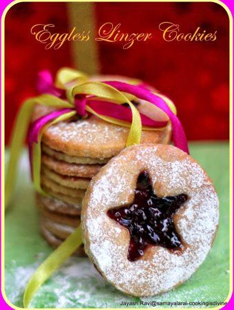 Linzer Cookies – Eggless