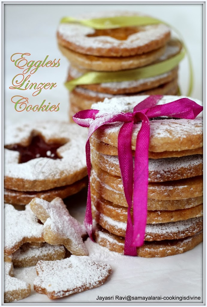 Linzer cookies -Eggless