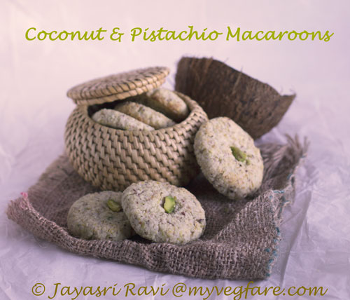 Coconut & Pistachio Macaroons