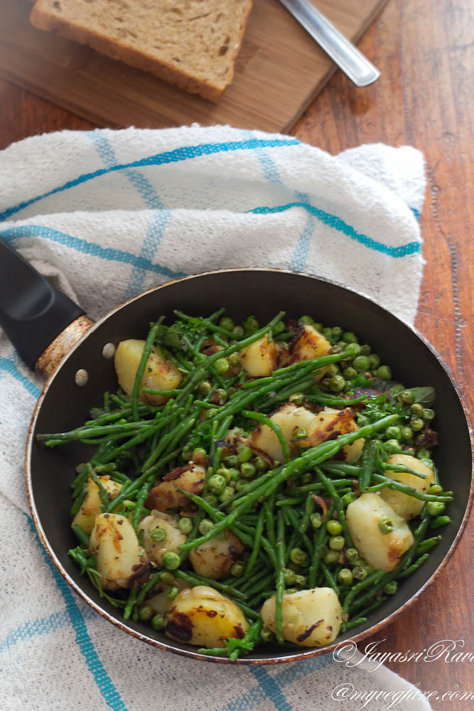 samphire and potatoes