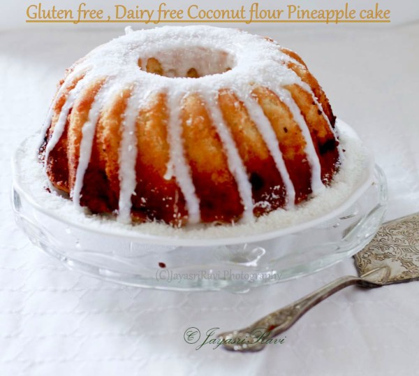 gluten free dairy free Coconut flour pineapple cake