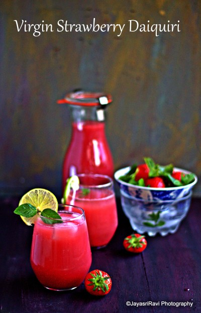 virgin strawberry Diaquiri