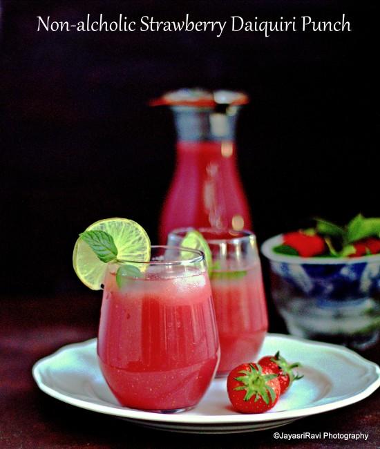 strawberry Diquiri punch