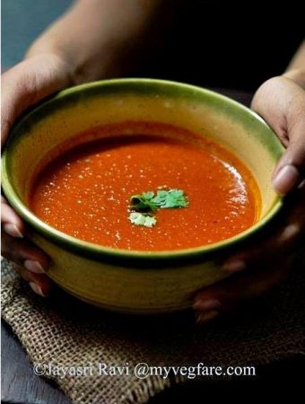 Roasted Tri-coloured Bell Pepper Soup