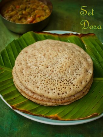 Set Dosa / A Crepe with a thousand holes!!