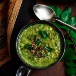 Mountain spinach yogurt based gravy